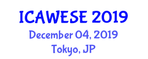International Conference on Advances in Wind Energy Systems Engineering (ICAWESE) December 04, 2019 - Tokyo, Japan