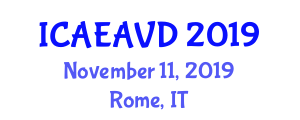 International Conference on Aerospace Engineering and Air Vehicle Designing (ICAEAVD) November 11, 2019 - Rome, Italy