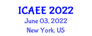 International Conference on Agricultural and Environmental Engineering (ICAEE) June 03, 2022 - New York, United States