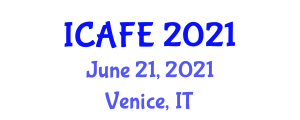 International Conference on Agricultural and Food Engineering (ICAFE) June 21, 2021 - Venice, Italy