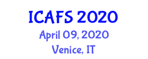 International Conference on Agricultural and Food Systems (ICAFS) April 09, 2020 - Venice, Italy