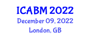 International Conference on Agricultural Biotechnology and Machinery (ICABM) December 09, 2022 - London, United Kingdom