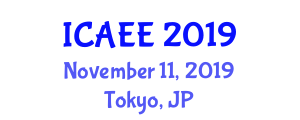 International Conference on Agricultural Ecology and Environment (ICAEE) November 11, 2019 - Tokyo, Japan