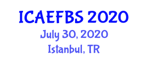 International Conference on Agricultural Engineering, Food and Beverage Systems (ICAEFBS) July 30, 2020 - Istanbul, Turkey