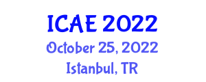 International Conference on Agricultural Engineering (ICAE) October 25, 2022 - Istanbul, Turkey