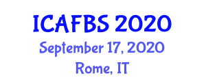 International Conference on Agricultural, Food and Biological Sciences (ICAFBS) September 17, 2020 - Rome, Italy