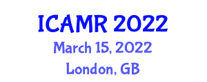 International Conference on Agricultural Mechatronics and Robotics (ICAMR) March 15, 2022 - London, United Kingdom