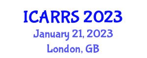 International Conference on Agricultural Robotics and Robotic Systems (ICARRS) January 21, 2023 - London, United Kingdom
