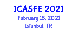 International Conference on Agricultural Science and Food Engineering (ICASFE) February 15, 2021 - Istanbul, Turkey