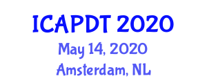 International Conference on Agriculture, Policies, Developments and Technologies (ICAPDT) May 14, 2020 - Amsterdam, Netherlands