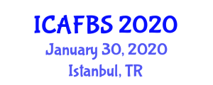 International Conference on Agroforestry, Food and Beverage Security (ICAFBS) January 30, 2020 - Istanbul, Turkey