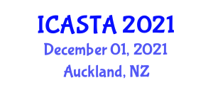 International Conference on Agroforestry Systems, Technologies and Applications (ICASTA) December 01, 2021 - Auckland, New Zealand