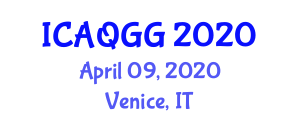 International Conference on Air Quality and Greenhouse Gases (ICAQGG) April 09, 2020 - Venice, Italy