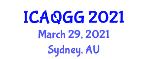 International Conference on Air Quality and Greenhouse Gases (ICAQGG) March 29, 2021 - Sydney, Australia