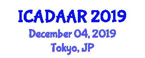 International Conference on Aircraft Design, Aerostructures and Aerospace Robotics (ICADAAR) December 04, 2019 - Tokyo, Japan
