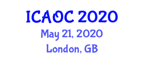 International Conference on Aluminum Oxide and Chemistry (ICAOC) May 21, 2020 - London, United Kingdom