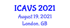 International Conference on Animal and Veterinary Sciences (ICAVS) August 19, 2021 - London, United Kingdom