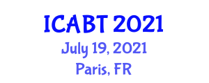 International Conference on Animal Bioscience and Technology (ICABT) July 19, 2021 - Paris, France