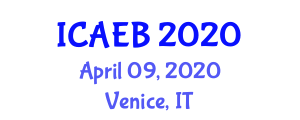 International Conference on Animal Ecology and Behavior (ICAEB) April 09, 2020 - Venice, Italy