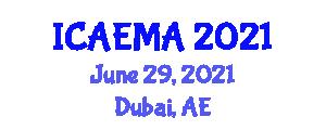 International Conference on Animal Ecology: Methods and Analyses (ICAEMA) June 29, 2021 - Dubai, United Arab Emirates