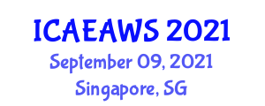 International Conference on Animal Ethics and Animal Welfare Science (ICAEAWS) September 09, 2021 - Singapore, Singapore