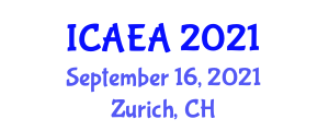 International Conference on Animal Experimentation and Applications (ICAEA) September 16, 2021 - Zurich, Switzerland