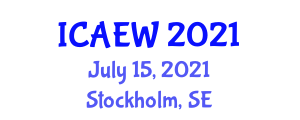 International Conference on Animal Experimentation and Welfare (ICAEW) July 15, 2021 - Stockholm, Sweden