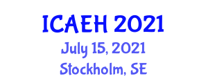 International Conference on Animal Extension and Husbandry (ICAEH) July 15, 2021 - Stockholm, Sweden