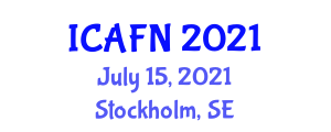 International Conference on Animal Feed and Nutrition (ICAFN) July 15, 2021 - Stockholm, Sweden