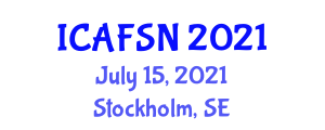 International Conference on Animal Feed Science and Nutrition (ICAFSN) July 15, 2021 - Stockholm, Sweden