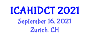 International Conference on Animal Health and Innovative Dairy Cattle Technology (ICAHIDCT) September 16, 2021 - Zurich, Switzerland