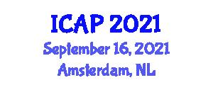 International Conference on Animal Production (ICAP) September 16, 2021 - Amsterdam, Netherlands