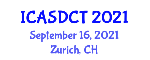 International Conference on Animal Sciences and Dairy Cattle Technology (ICASDCT) September 16, 2021 - Zurich, Switzerland