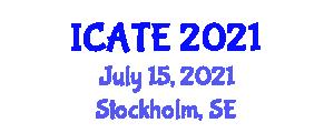 International Conference on Animal Testing and Experimentation (ICATE) July 15, 2021 - Stockholm, Sweden