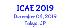 International Conference on Animations for Education (ICAE) December 04, 2019 - Tokyo, Japan