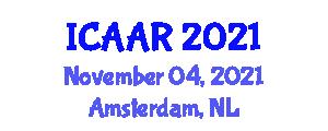 International Conference on Anthropology and Art (ICAAR) November 04, 2021 - Amsterdam, Netherlands