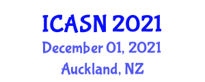 International Conference on Anthroposociology, Society and Nature (ICASN) December 01, 2021 - Auckland, New Zealand