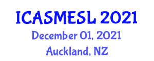 International Conference on Application of Sorption Materials in Environment and Sorbent Life (ICASMESL) December 01, 2021 - Auckland, New Zealand