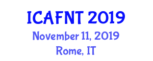 International Conference on Applications and Future of Nanotechnology in Textiles (ICAFNT) November 11, 2019 - Rome, Italy