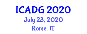 International Conference on Applications of Digital Geography (ICADG) July 23, 2020 - Rome, Italy