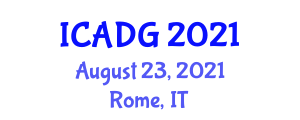 International Conference on Applications of Digital Geography (ICADG) August 23, 2021 - Rome, Italy