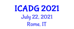 International Conference on Applications of Digital Geography (ICADG) July 22, 2021 - Rome, Italy
