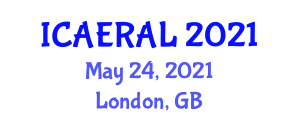 International Conference on Applications of Evolutionary Robotics and Artificial Life (ICAERAL) May 24, 2021 - London, United Kingdom