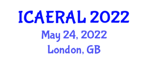 International Conference on Applications of Evolutionary Robotics and Artificial Life (ICAERAL) May 24, 2022 - London, United Kingdom