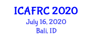 International Conference on Applications of Fiber Reinforced Concrete (ICAFRC) July 16, 2020 - Bali, Indonesia