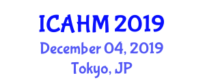 International Conference on Applications of Herbal Medicines (ICAHM) December 04, 2019 - Tokyo, Japan