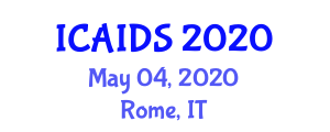 International Conference on Applications of Information and Data Security (ICAIDS) May 04, 2020 - Rome, Italy