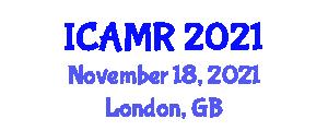 International Conference on Applications of Medical Robotics (ICAMR) November 18, 2021 - London, United Kingdom