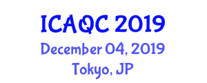 International Conference on Applications of Quantum Computing (ICAQC) December 04, 2019 - Tokyo, Japan