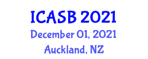 International Conference on Applications of Sports Biomechanics (ICASB) December 01, 2021 - Auckland, New Zealand